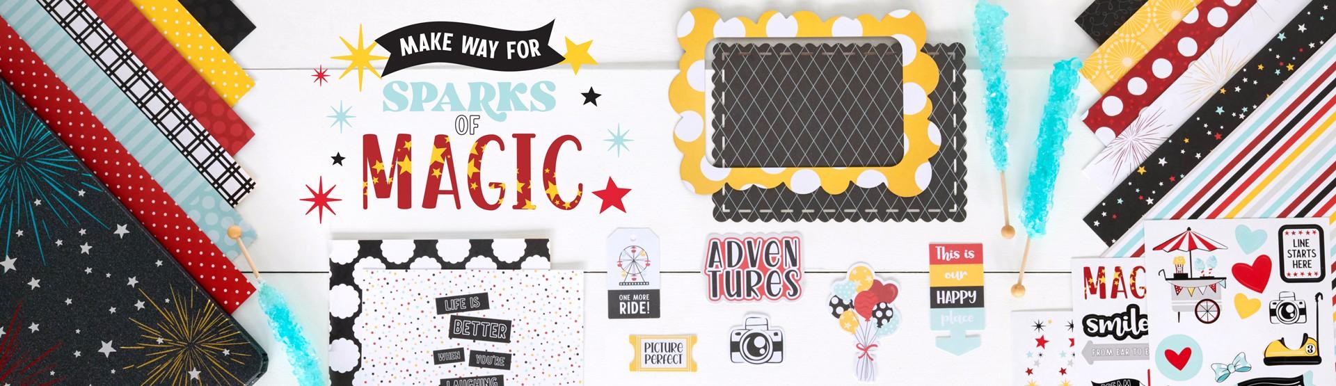 Amusement Park Scrapbooking Supplies: Sparks of Magic