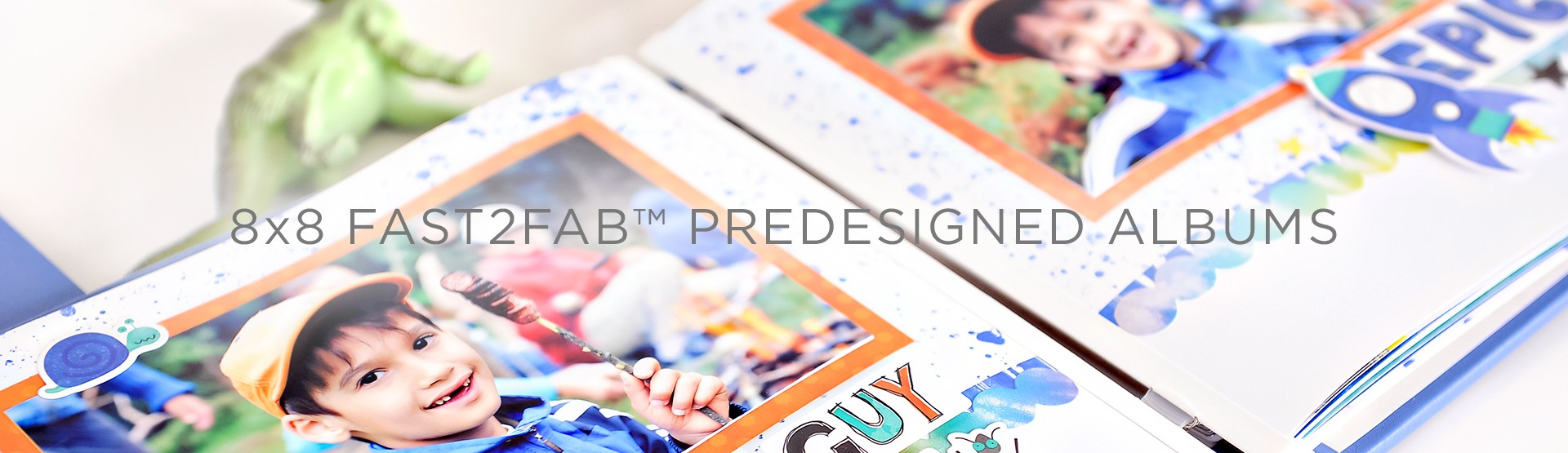 8x8 Fast2Fab Predesigned Albums