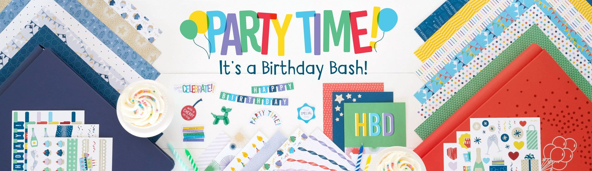 Birthday Scrapbooking Supplies: Party Time!