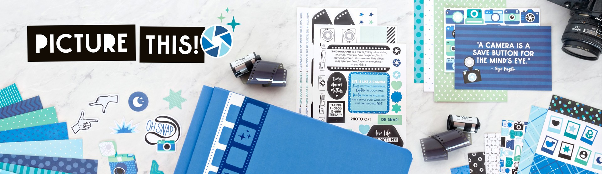 Photo & Camera Themed Scrapbook Supplies: Picture This!