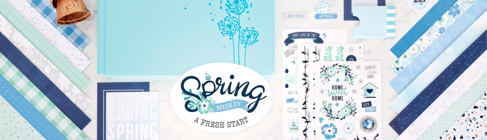 Spring Scrapbook Supplies: Spring Medley