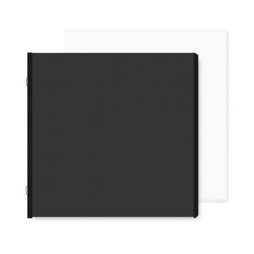 Black 12x12 Plain Pages and Protectors - Creative Memories
