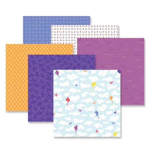 Creative Memories 12x12 Electric Summer beach scrapbook paper