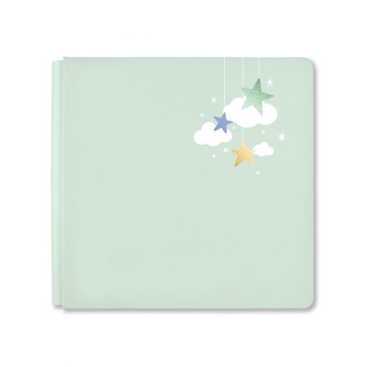 Creative Memories 12x12 light green Little Dream baby album cover