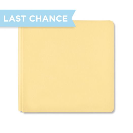 12x12 Soft Yellow Album Cover - Creative Memories