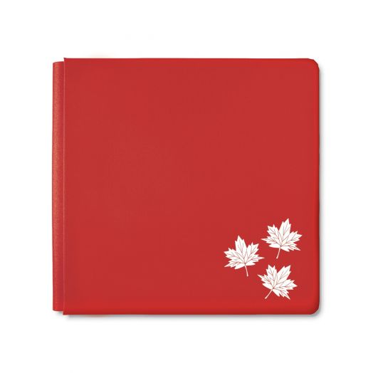 Creative Memories 12x12 True North red maple leaf album cover