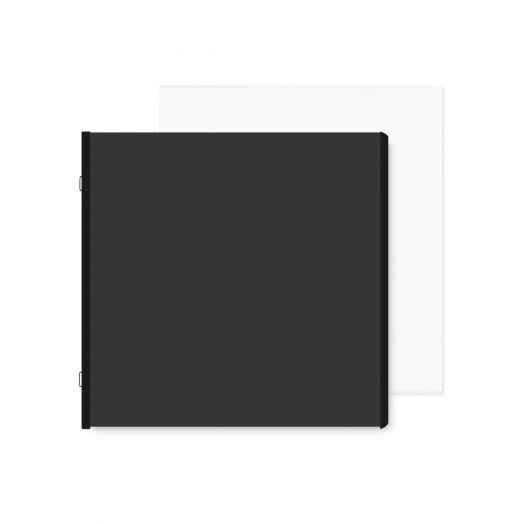Black 8x8 Plain Pages and Protectors - Creative Memories