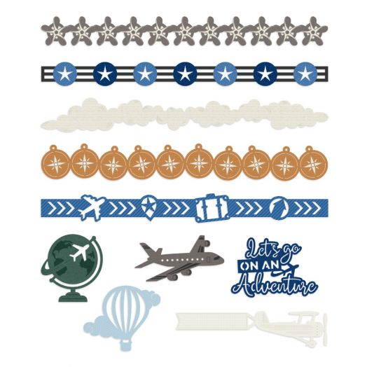 Creative Memories airplane decorations for scrapbooking