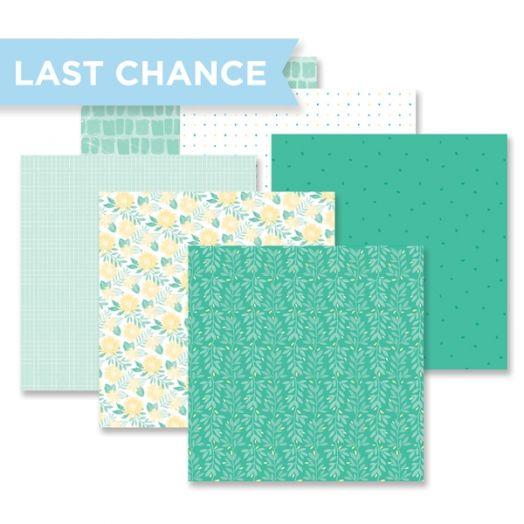 Blend & Bloom Green Paper Pack by Creative Memories