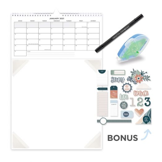 2021 Calendar Template Virtual Create & Take Bundle
