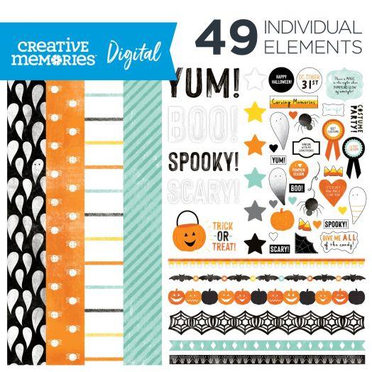 Halloween Digital Scrapbooking Kit