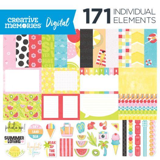 Creative Memories Citrus Summer digital summer scrapbook kit