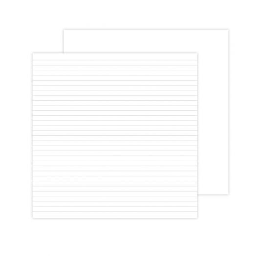 Creative Memories 12x12 white lined paper for scrapbooking
