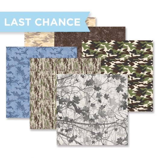 Creative Memories camouflage paper (12/pk) - 657117