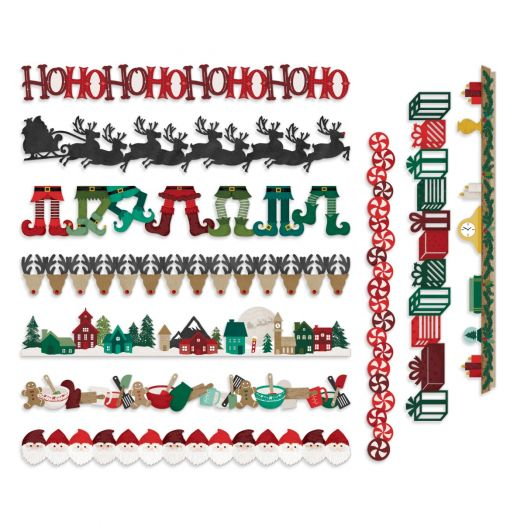 Creative Memories Christmas borders for scrapbooking - Christmas Spirit collection