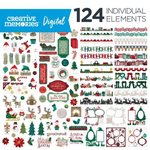 Christmas Digital Elements - Christmas Spirit