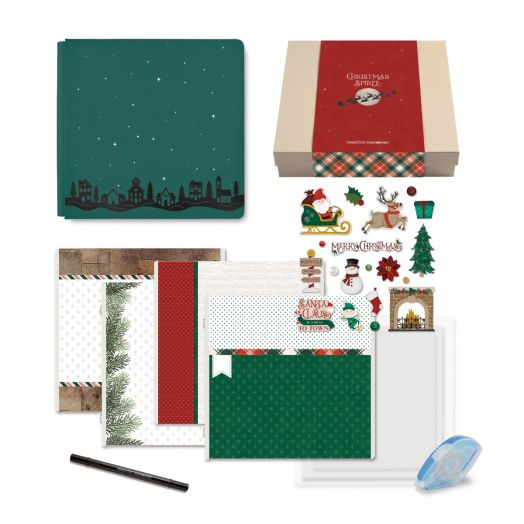 Creative Memories Christmas gift box for scrapbooking - Christmas Spirit