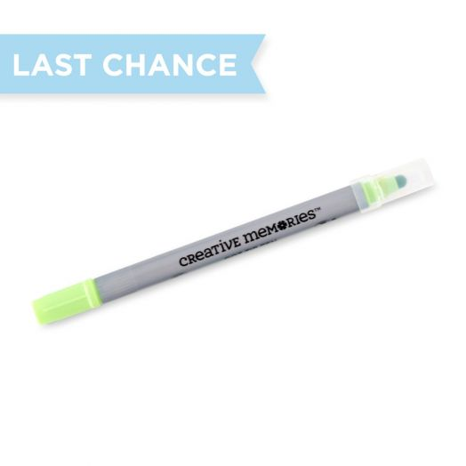 Creative Memories Kiwi green dot pen - 657621