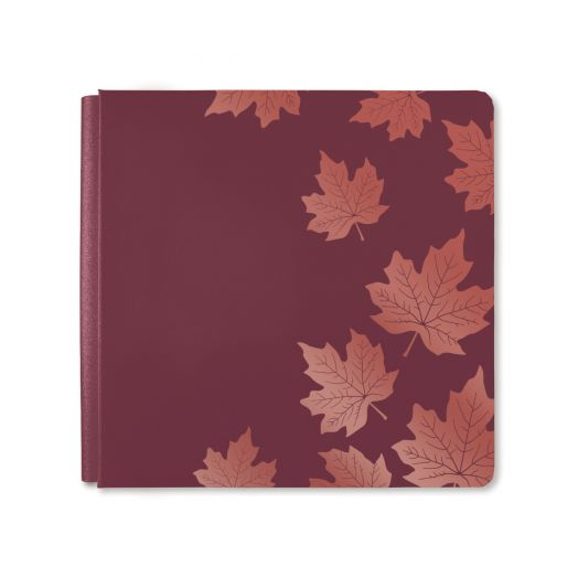 Creative Memories leaf scrapbook album cover: Hello, Autumn