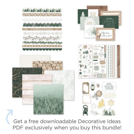 Creative Memories scrapbooking winter starter kit - Winter Woods