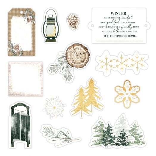 Creative Memories winter scrapbook embellishments - Winter Woods