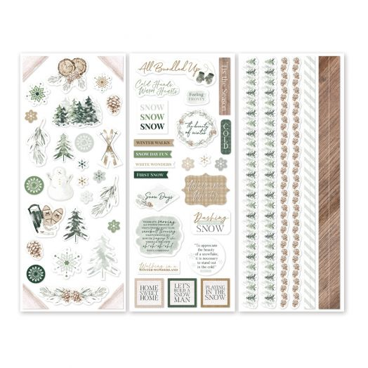 Creative Memories winter stickers for scrapbooking - Winter Woods