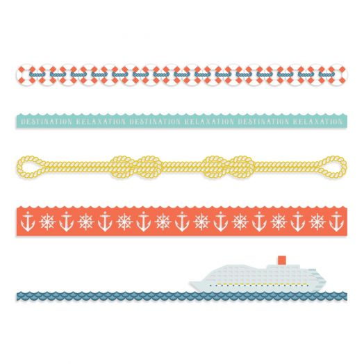 Creative Memories cruise borders for scrapbooking | Cruisin Along