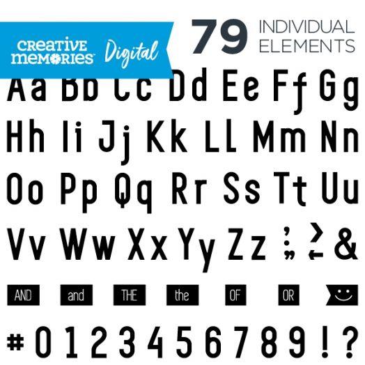 Digital Black Sans Serif ABC/123 Elements