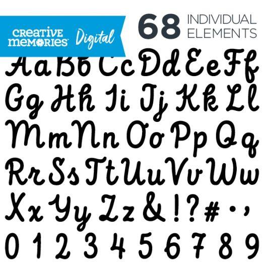 Digital Black Script ABC/123 Elements