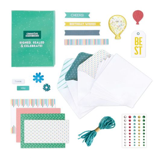 Creative Memories DIY cards kit - Signed, Sealed & Celebrate Card Kit