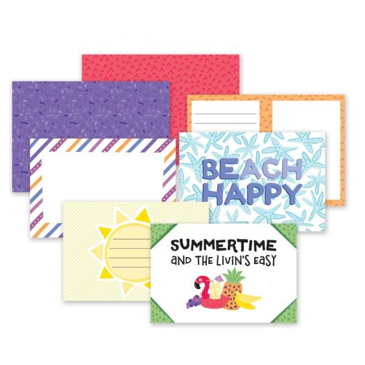 Creative Memories Electric Summer scrapbook mats