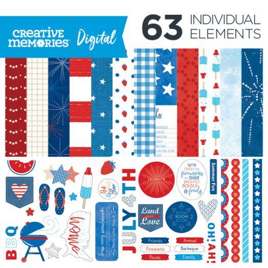 Creative Memories Little Dreamer baby themed digital scrapbook kit