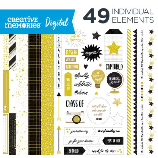 Creative Memories Graduation digital scrapbooking kit - D657319