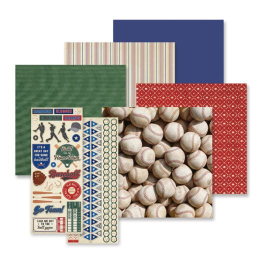 Creative Memories Grand Slam baseball scrapbook kit - 657287