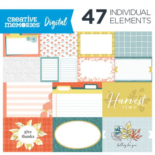 Creative Memories Harvest Delight fall digital picture mats - D657211