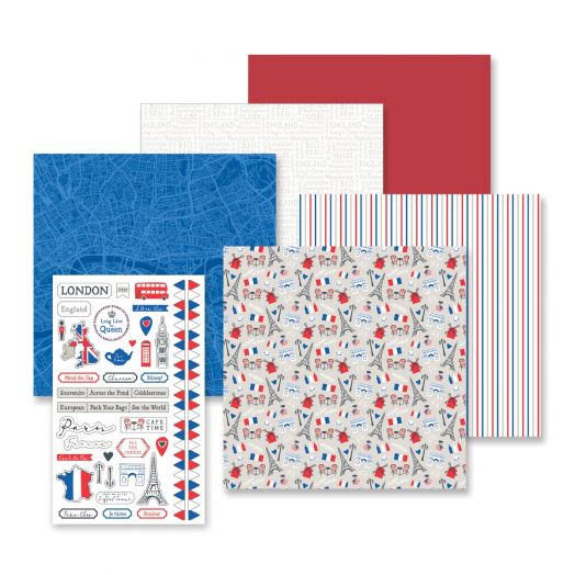 Creative Memories London & Paris stickers and papers for scrapbooking