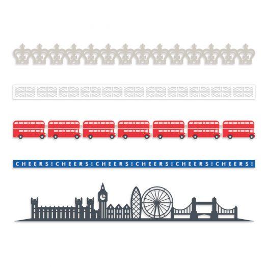Creative Memories London themed scrapbook border embellishments