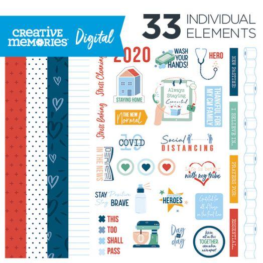 Creative Memories True North digital Canada themed scrapbook kit