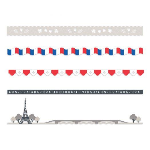 Creative Memories Paris themed scrapbook border embellishments