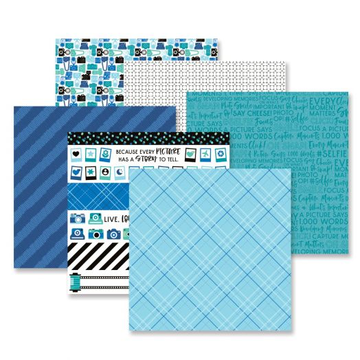 Creative Memories Picture This! photo themed scrapbook paper