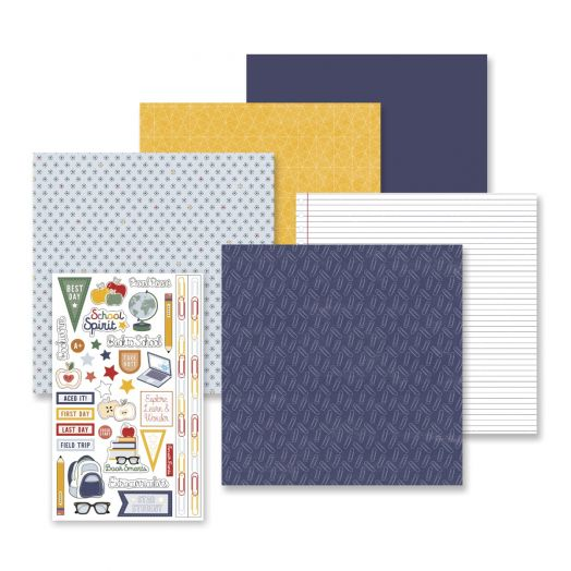Creative Memories school stickers and papers for scrapbooking school memories with the Book Smarts Theme Pack