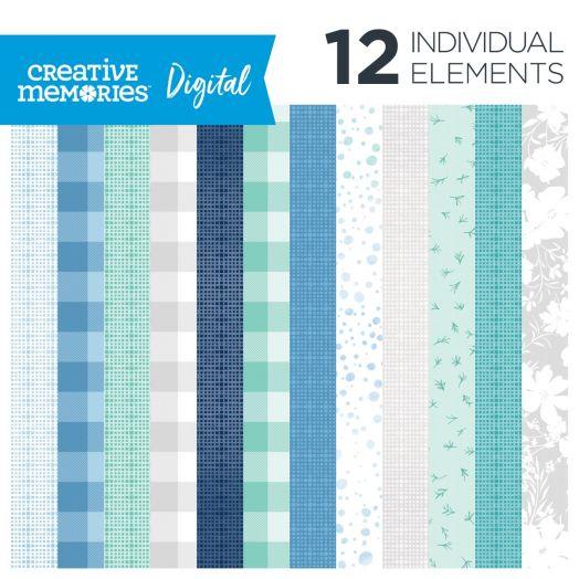 Creative Memories Spring Medley spring digital scrapbooking paper - D657753