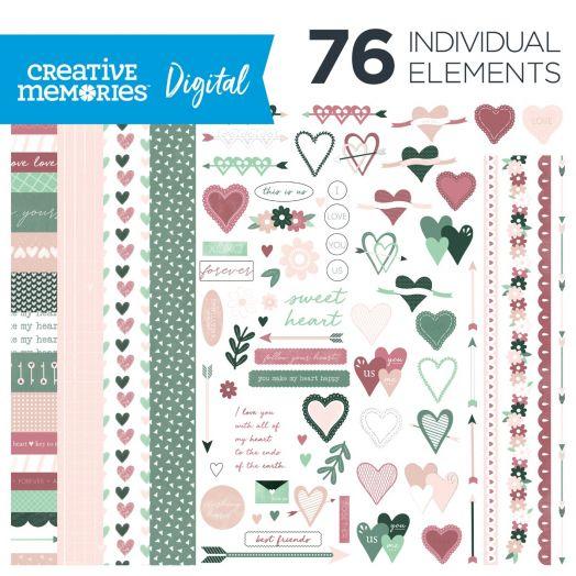 Valentines Digital Scrapbooking Kit: Sweetheart