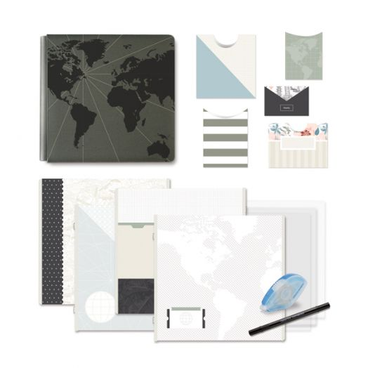 Creative Memories Travel Log DIY kit for a travel album - 657241