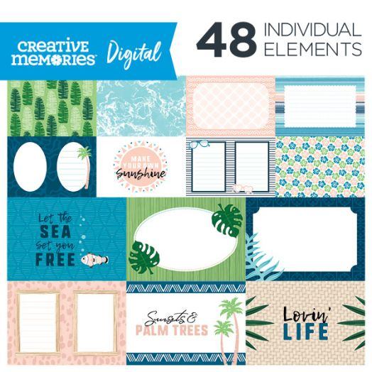 Creative Memories Picture This! photo themed digital picture mats