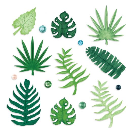 Creative Memories Vitamin Sea tropical leaf embellishments