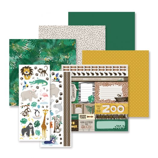 Creative Memories What A Zoo album scrapbook kit - 657307