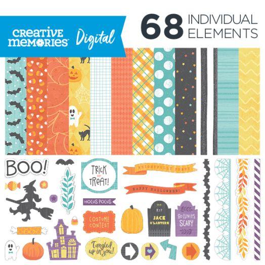 Creative Memories Wicked Cute digital Halloween kit - D657495